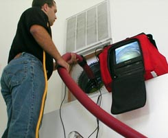 duct cleaning technician